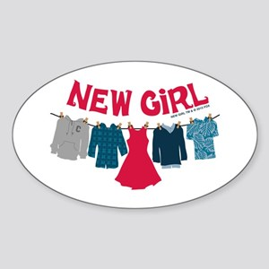 New Girl Laundry Sticker (Oval)