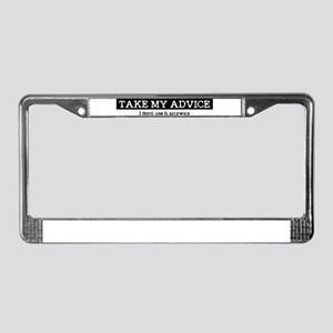 advice License Plate Frame