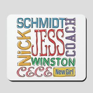 New Girl Names Mousepad