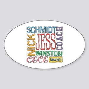 New Girl Names Sticker (Oval)