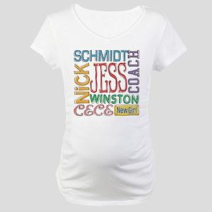New Girl Names Maternity T-Shirt