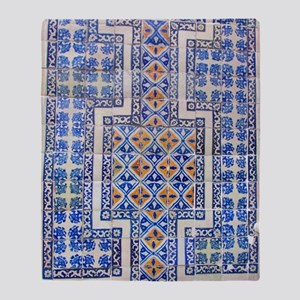 Mexican Tilework Throw Blanket