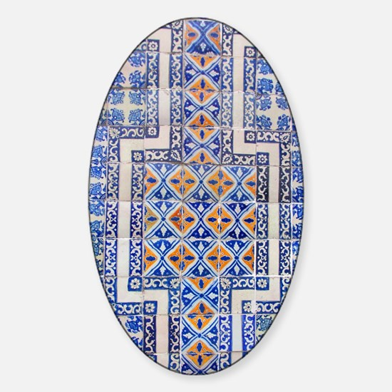 Mexican Tilework Sticker (Oval)