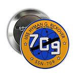 """USS HYMAN G. RICKOVER 2.25"""" Button"""