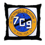 USS HYMAN G. RICKOVER Throw Pillow