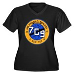 USS HYMAN G. Women's Plus Size V-Neck Dark T-Shirt