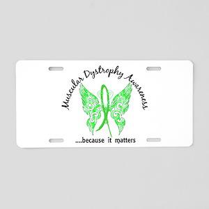 Muscular Dystrophy Butterfl Aluminum License Plate