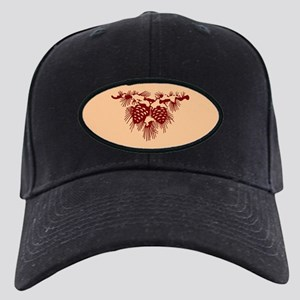Brown Pine Cones Black Cap