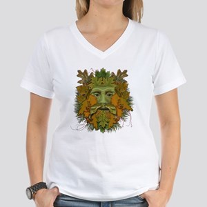 GreenMan (Autumn/Fall) Women's V-Neck T-Shirt