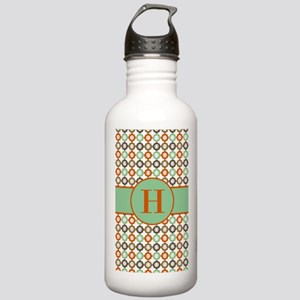 Orange Mint Quatrefoil Stainless Water Bottle 1.0L