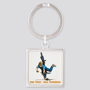 Ride Today Biking Square Keychain