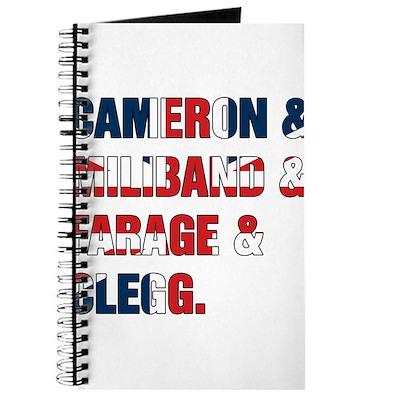 Cameron & Miliband & Farage & Clegg Journal
