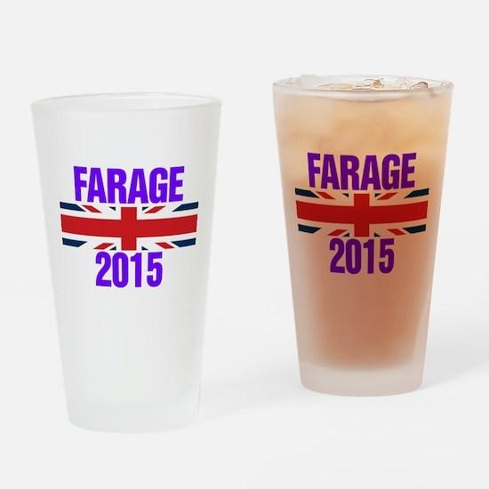 Nigel Farage 2015 General Election Drinking Glass