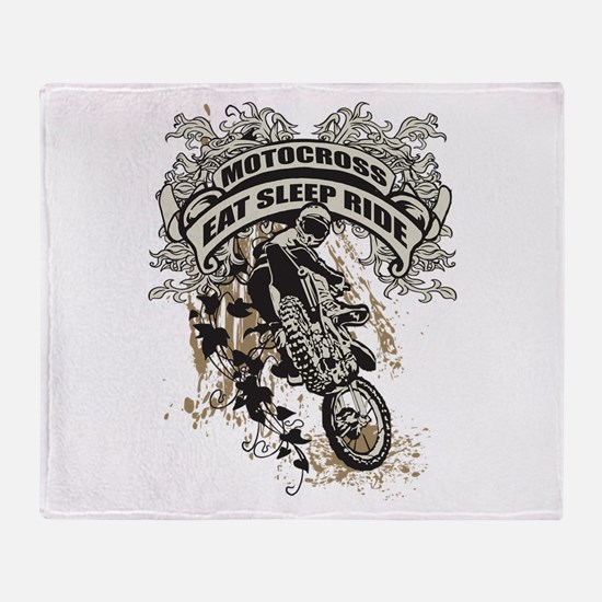 Eat, Sleep, Ride Motocross Throw Blanket