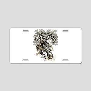 Eat, Sleep, Ride Motocross Aluminum License Plate