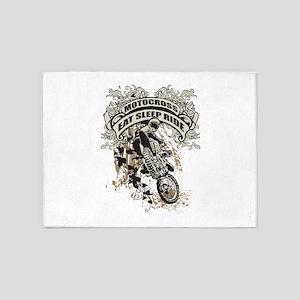 Eat, Sleep, Ride Motocross 5'x7'Area Rug