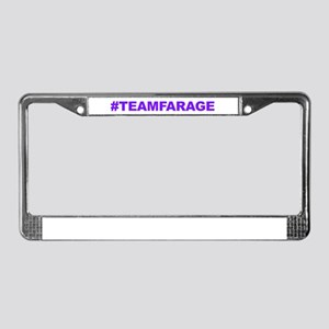 Team Farage License Plate Frame
