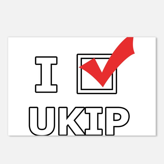 I Vote UKIP Postcards (Package of 8)
