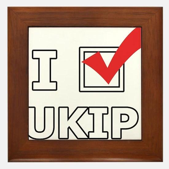 I Vote UKIP Framed Tile