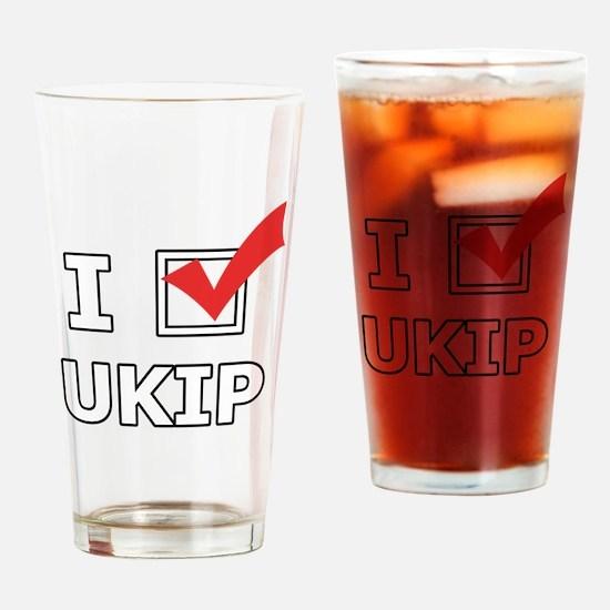 I Vote UKIP Drinking Glass