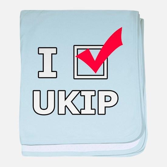 I Vote UKIP baby blanket