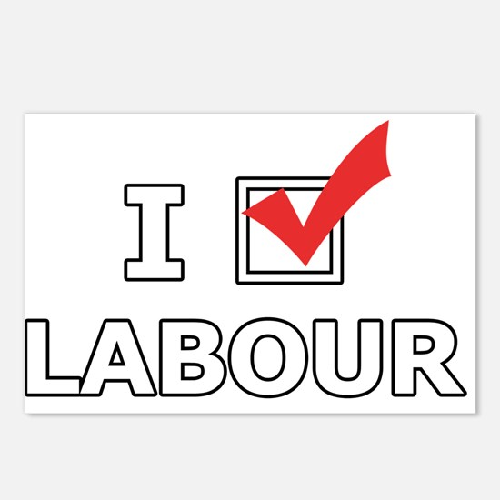 I Vote Labour Postcards (Package of 8)