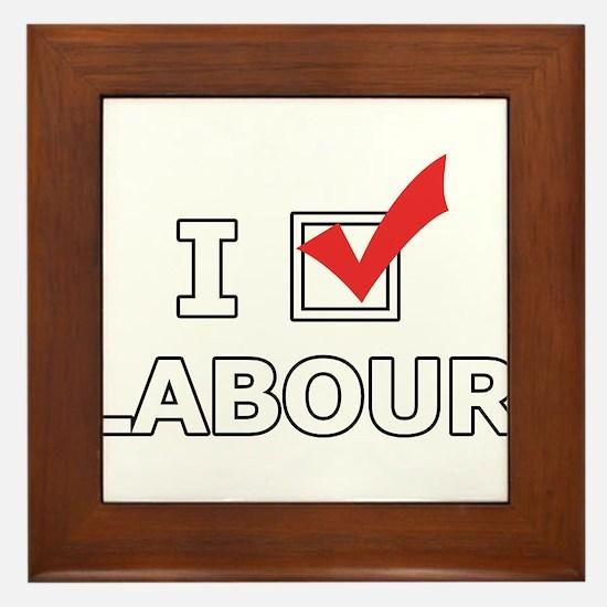 I Vote Labour Framed Tile