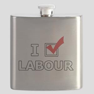 I Vote Labour Flask