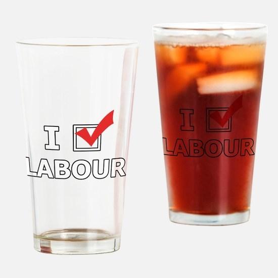 I Vote Labour Drinking Glass