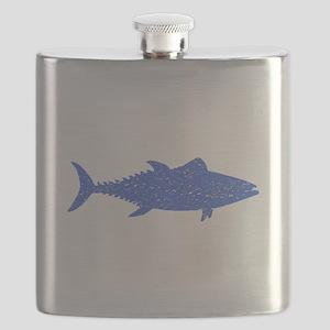 Distressed Blue Tuna Fish Flask