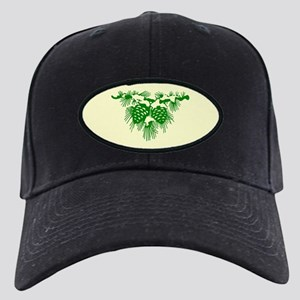 Green Pinecones Black Cap