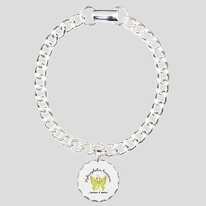 Hydrocephalus Butterfly Charm Bracelet, One Charm