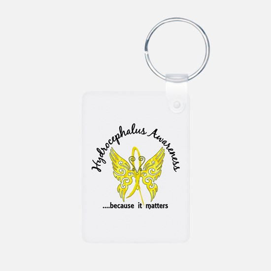Hydrocephalus Butterfly 6. Aluminum Photo Keychain