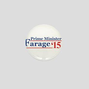 Farage 15 Prime Minister Mini Button