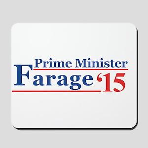 Farage 15 Prime Minister Mousepad