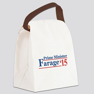 Farage 15 Prime Minister Canvas Lunch Bag