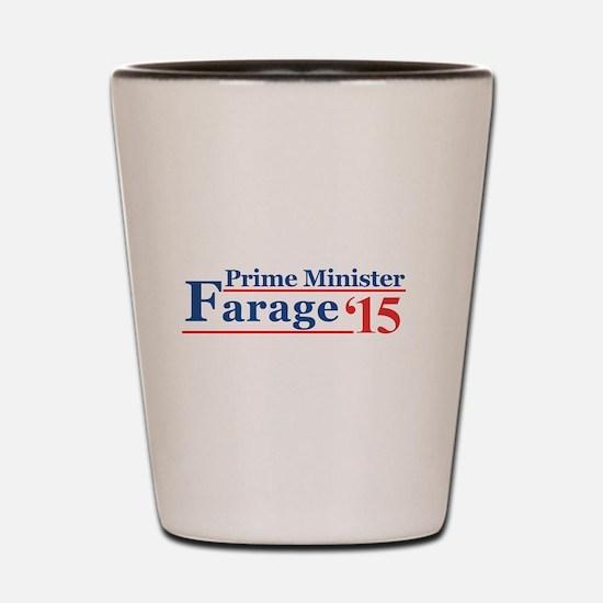 Farage 15 Prime Minister Shot Glass