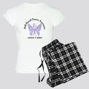 Male Breast Cancer Butterfl Women's Light Pajamas