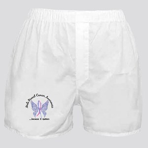 Male Breast Cancer Butterfly 6.1 Boxer Shorts