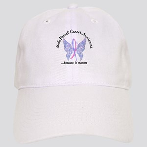 Male Breast Cancer Butterfly 6.1 Cap