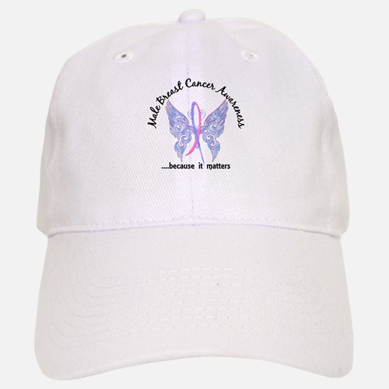 Male Breast Cancer Butterfly 6.1 Baseball Baseball Cap