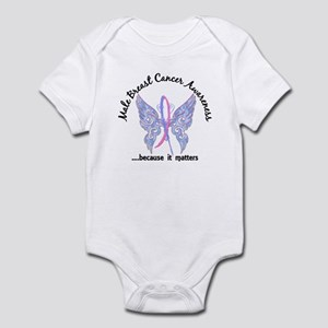 Male Breast Cancer Butterfly 6.1 Infant Bodysuit