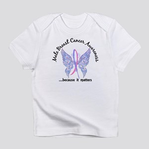 Male Breast Cancer Butterfly 6.1 Infant T-Shirt
