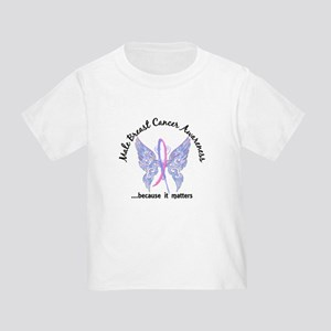 Male Breast Cancer Butterfly 6.1 Toddler T-Shirt