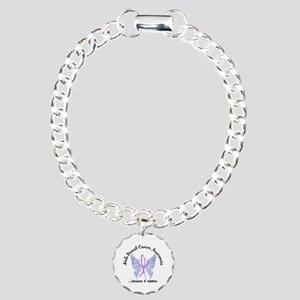 Male Breast Cancer Butte Charm Bracelet, One Charm