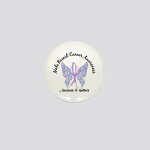 Male Breast Cancer Butterfly 6.1 Mini Button