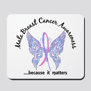 Male Breast Cancer Butterfly 6.1 Mousepad
