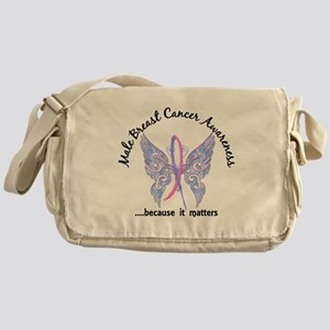 Male Breast Cancer Butterfly 6.1 Messenger Bag
