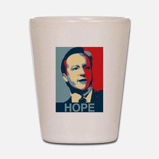David Cameron Hope 2015 Shot Glass