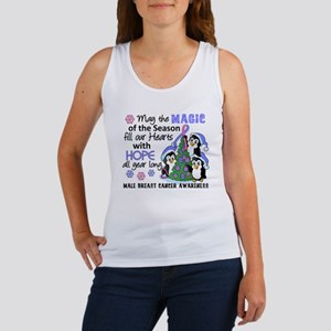 Holiday Penguins Male Breast Cancer Women's Tank T